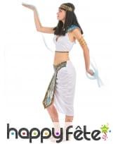 Costume d'égyptienne blanc avec voilages, image 1