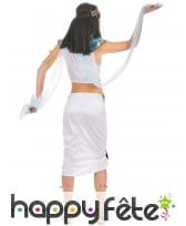 Costume d'égyptienne blanc avec voilages, image 2