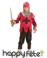 Costume d'enfant chevalier médiéval