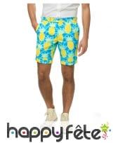 Costume d'été 3 pièces motif ananas pour homme, image 1