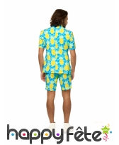 Costume d'été 3 pièces motif ananas pour homme, image 2