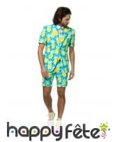 Costume d'été 3 pièces motif ananas pour homme, image 3