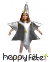 Costume d'étoile argentée pour enfant