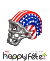 Casque de footballeur americain gonflable