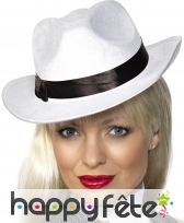 Chapeau de femme Gangster blanc