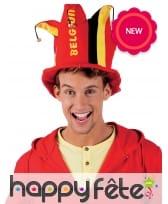 Chapeau de fou supporter de Belgique