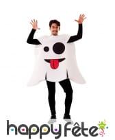 Costume de fantome snapchat pour adulte
