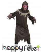 Costume de faucheur avec masque lumineux, enfant