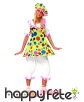 Costume de femme clown fiesta
