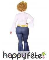 Costume de femme disco blanc doré grande taille, image 2