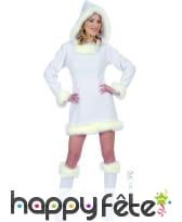 Costume de femme esquimau sexy en flanelle