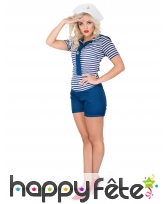 Costume de femme marin en petit short, image 1