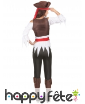 Costume de femme pirate avec corset marron, image 2