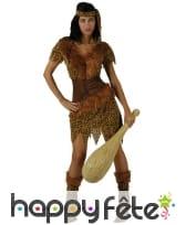 Costume de femme préhistorique motifs léopard