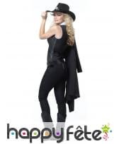 Costume de Femme Sherif manteau mi-long noir, image 1