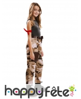 Costume de fille militaire pour enfant, image 1