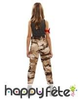 Costume de fille militaire pour enfant, image 2