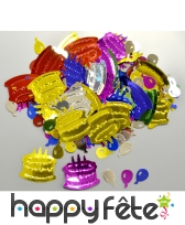 Confettis de gâteaux et ballons