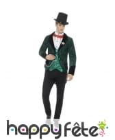 Costume de gentleman vampire victorien vert