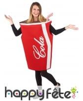 Costume de gobelet cola pour adulte, image 5