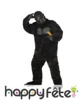 Costume de gorille noire pour adulte