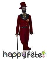 Costume de Groom rouge Le jour des morts, homme, image 1