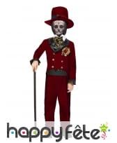 Costume de groom squelette pour garçon, rouge, image 1