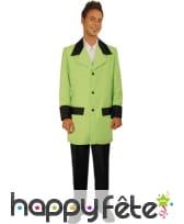 Costume de groom vert