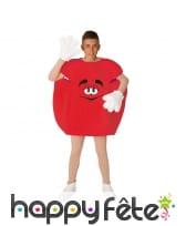 Costume de gros bonbon rouge