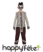Costume de guerrier squelette indien pour garçon, image 1