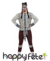 Costume de guerrier squelette indien pour homme, image 1