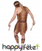 Costume d'homme des cavernes motifs léopard, image 2