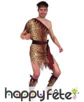 Costume d'homme des cavernes motifs léopard, image 3