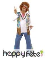 Costume d'homme hippie woodstock, image 1