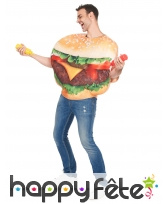 Costume de hamburger pour adulte, image 1