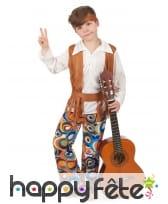 Costume de hippie pour garçon, pantalon à motifs, image 1
