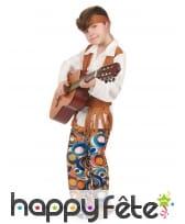 Costume de hippie pour garçon, pantalon à motifs, image 2