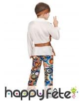 Costume de hippie pour garçon, pantalon à motifs, image 3