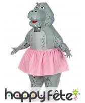 Costume de hippo ballerine gonflable pour adulte, image 1