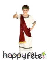 Costume de Jules César pour enfant