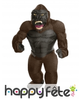 Costume de King Kong gonflable pour adulte