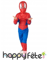 Combinaison de l'homme araignée pour garçon