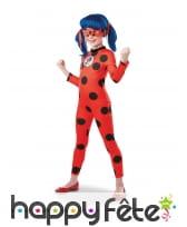 Combinaison de LadyBug avec masque, pour fille
