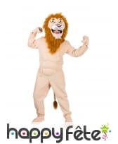 Combinaison de lion musclé pour adulte