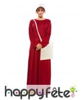 Costume de la servante écarlate pour femme