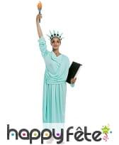 Costume de la statue de la liberté pour adulte