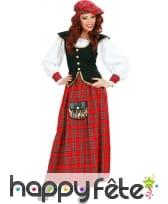 Costume de lady écossaise sexy