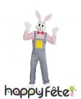 Costume de lapin en salopette pour adulte