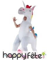 Costume de licorne gonflable géante pour adulte