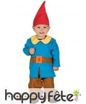 Costume de lutin bleu et marron pour bébé